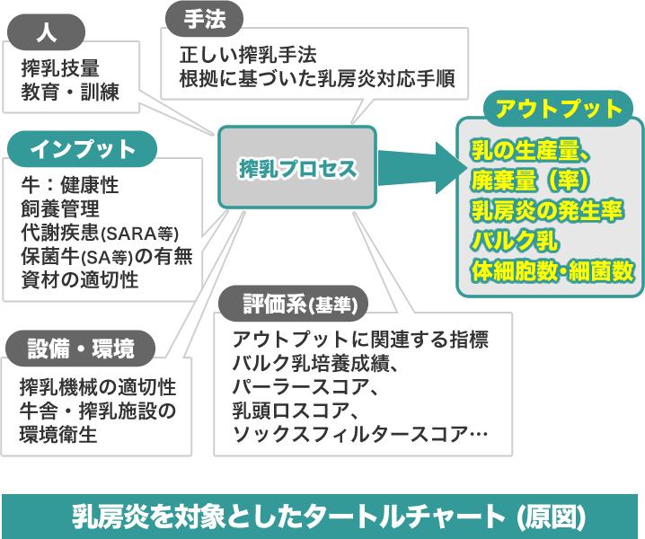 乳房炎を対象としたタートルチャート (原図)